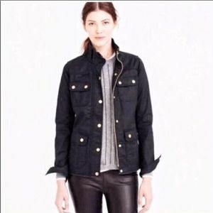 J Crew Relaxed Boyfriend Field Jacket Black Large